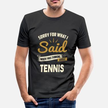 Grappige Tennis TENNIS - slim fit T-shirt