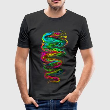 Color your life! Rainbow, Music, Trance, Techno, Goa - slim fit T-shirt