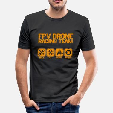 Fpv FPV Drone Build Fly Crash Repeat Gift Copter - Men's Slim Fit T-Shirt