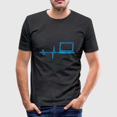 Gift Heartbeat Notebook PC - slim fit T-shirt