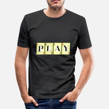 Poker PLAY - Herre Slim Fit T-Shirt