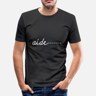 Aid aide / wit - slim fit T-shirt