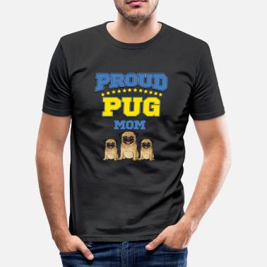 Mam Pug Mam - Men's Slim Fit T-Shirt
