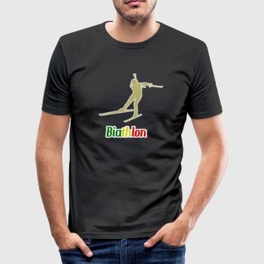 Biathlon Wintersport Biathlon Wintersport - Männer Slim Fit T-Shirt