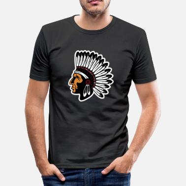 Indian Apache apache indian native america chief - Men's Slim Fit T-Shirt