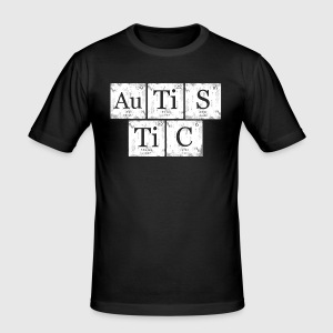 Autistic nerd geek periodic table by lorydesigns spreadshirt mens slim fit t shirt urtaz Gallery