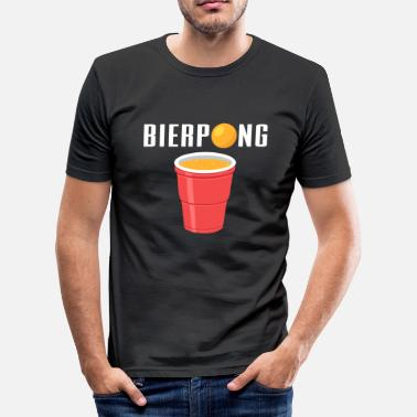Dryckesspel Beer Pong - Slim Fit T-shirt herr