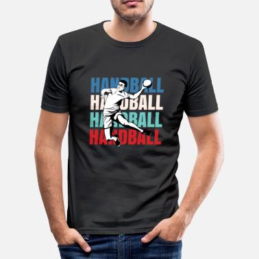 Handball - Handball Players - Sport - Ball - World handball - Men's Slim Fit T-Shirt
