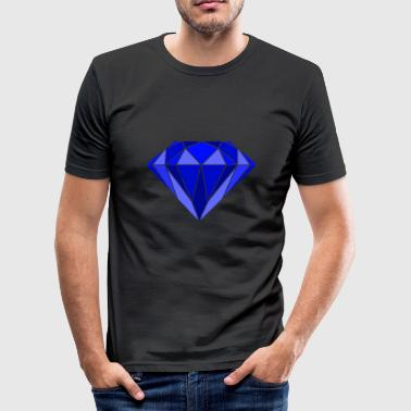 Diamant Diamant i blåt - Herre Slim Fit T-Shirt