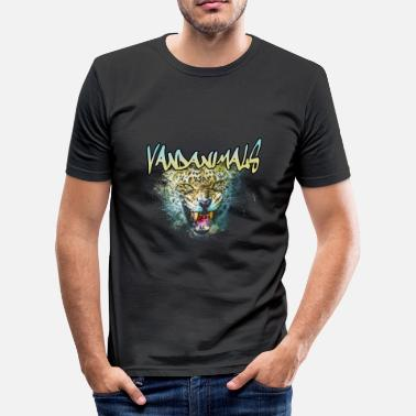 Vandanimals Leopard - Slim Fit T-shirt herr