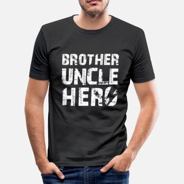 Niece Uncle Brother uncle hero niece nephew godfather gift - Men's Slim Fit T-Shirt