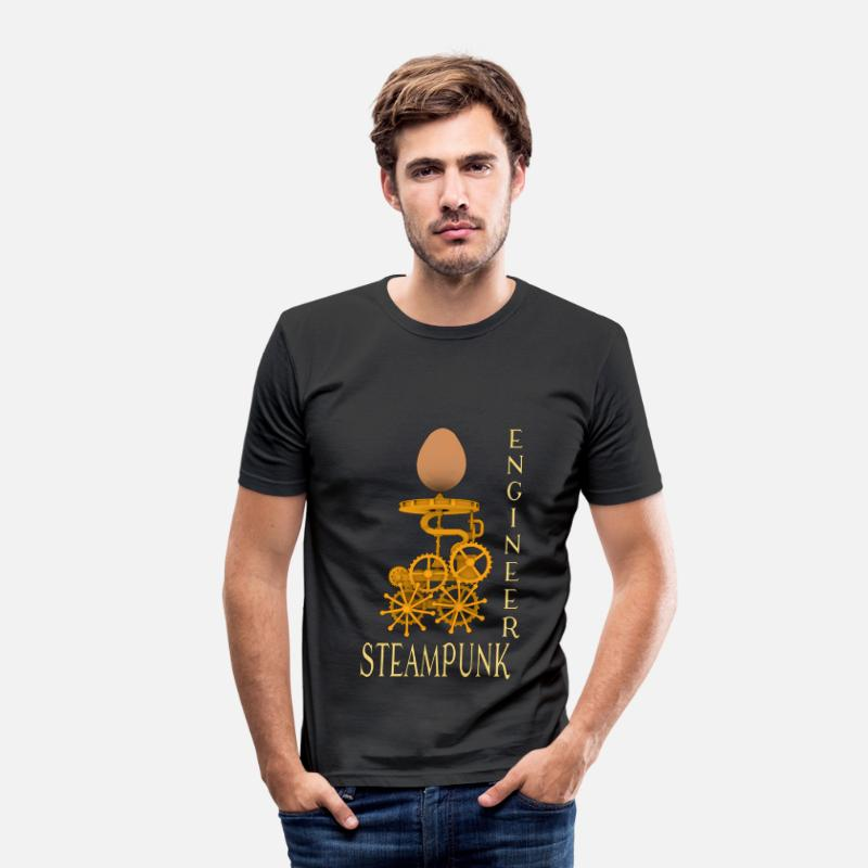 Civil Engineering T-Shirts - Steampunk Engineer - Men's Slim Fit T-Shirt black