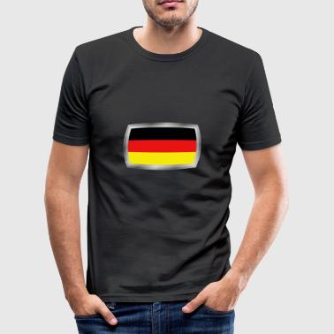 tysk flagg - Slim Fit T-shirt herr
