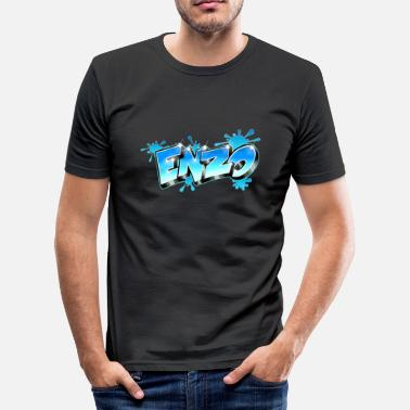 Enzo Enzo Style Graffiti - Slim Fit T-skjorte for menn