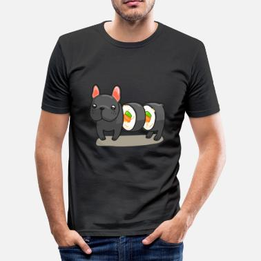 Roll Tide Frenchie Sushi Roll T Shirt - Men's Slim Fit T-Shirt