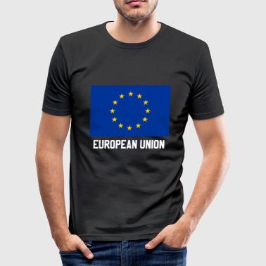 Europa flagga design - Slim Fit T-shirt herr
