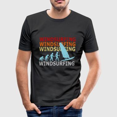 Windsurfing Retro Vintage Windsurfer Evolution Windsurfing - Men's Slim Fit T-Shirt
