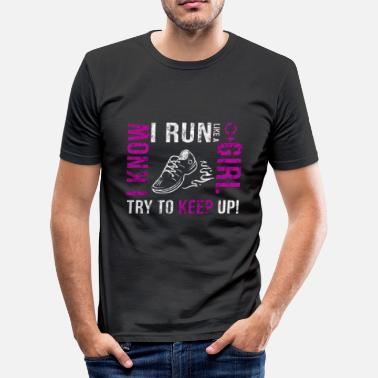 Run Like A Girl Run Girl - Männer Slim Fit T-Shirt