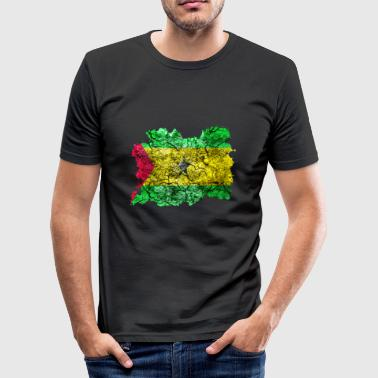 Sao Tome og Principe Vintage Flag - Slim Fit T-skjorte for menn