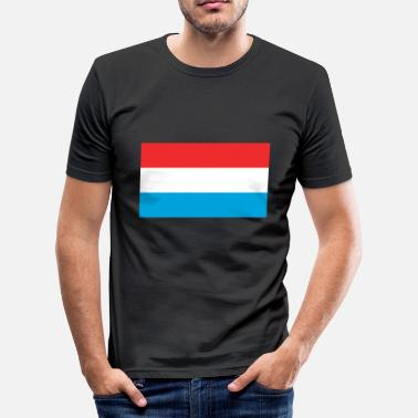 Nordirland Luxembourgs flagg - Slim fit T-skjorte for menn