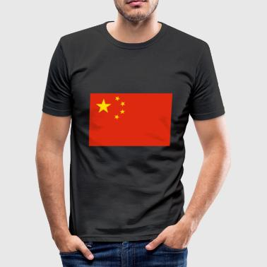 China Flag - Men's Slim Fit T-Shirt