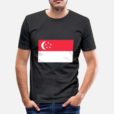 Stadstaat Singapore - slim fit T-shirt