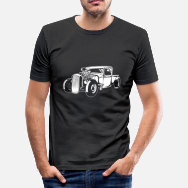 Hot Rod Vintage Hot Rod Silhouette - Screwdriver Tuning - Men's Slim Fit T-Shirt