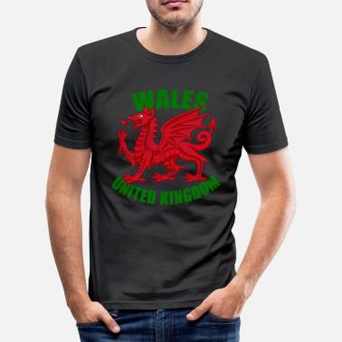 Welsh Dragon Wales flag dragon - Men's Slim Fit T-Shirt