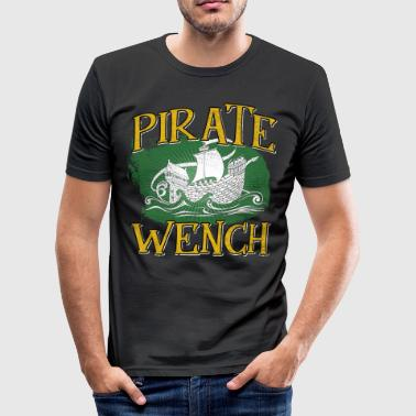 Piratenbucht Piratenschiff Piraterie Pirat Piratenbucht Schatz - Männer Slim Fit T-Shirt
