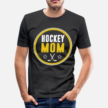 Hockeyschläger Hockey Mom Hockeyschläger Eishockey Mama Mutter - Männer Slim Fit T-Shirt