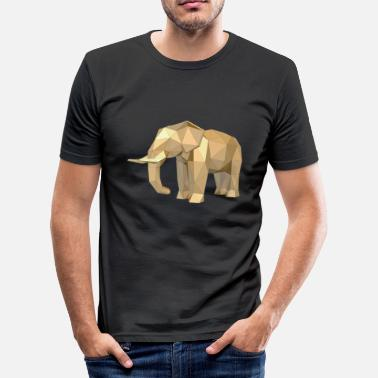 3d Animali Elefante in 3D! Idea regalo animale - Maglietta aderente da uomo