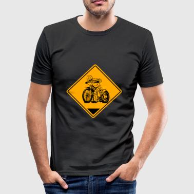 Grass Track Speedway Road Sign - Men's Slim Fit T-Shirt