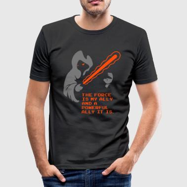 the_force_is_my_ally - Männer Slim Fit T-Shirt
