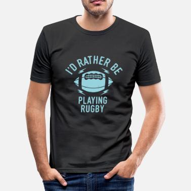 Rugby Cool Funny Rugby Team Sayings Men Gift Idea - Men's Slim Fit T-Shirt