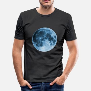 Moon Wicca Full Moon, magic, fantasy, night, wicca, space - Men's Slim Fit T-Shirt