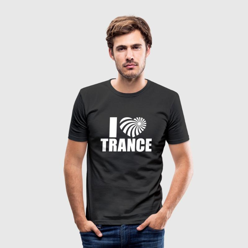 I Love Trance - Männer Slim Fit T-Shirt