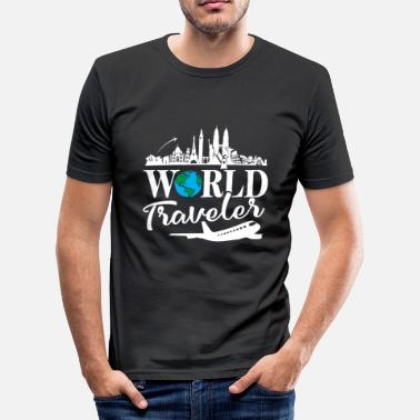 World Travel world traveler - Männer Slim Fit T-Shirt