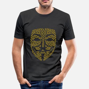 Hacker Masker anonieme hackers - slim fit T-shirt