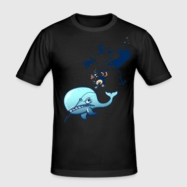 Whales are Furious - Men's Slim Fit T-Shirt