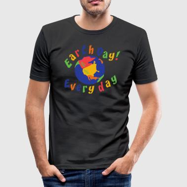 Earth Day Every Day - Slim Fit T-skjorte for menn