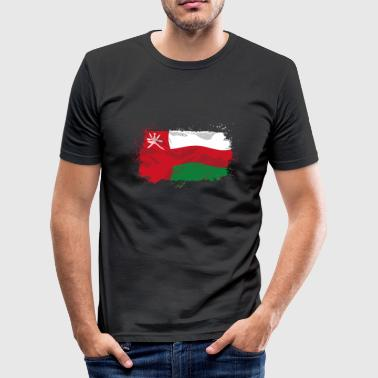 Oman Flag  - Männer Slim Fit T-Shirt