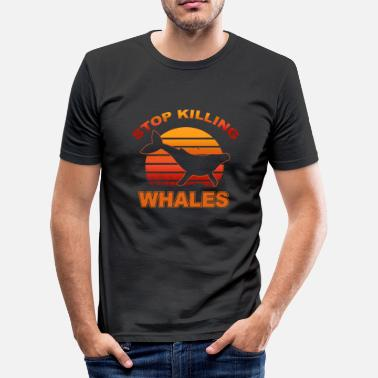 Stop Whaling Stop killing whales - Men's Slim Fit T-Shirt