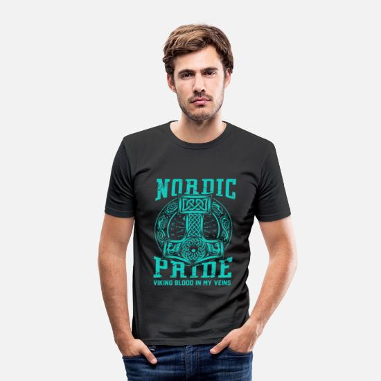 Thor T-shirts - Normann Stolz Viking blod i mine årer - Slim fit T-shirt mænd sort