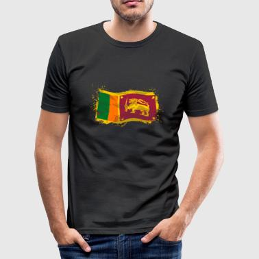 Sri Lanka Flag  - Männer Slim Fit T-Shirt
