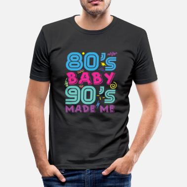 I Love The 90s I love the 90s Disco Music R & B Hip Hop Gift - Men's Slim Fit T-Shirt