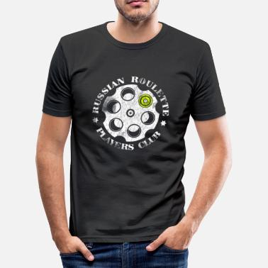 Roulette Russian Roulette Players Club - Männer Slim Fit T-Shirt