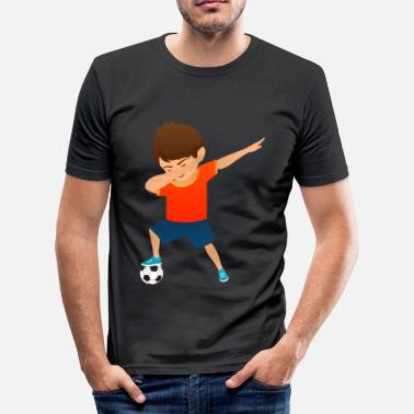 Kinder Hip Hop Soccer Boy Dab Dance - Männer Slim Fit T-Shirt