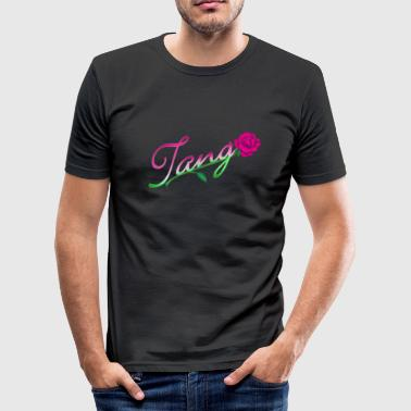 Tanze Erotisch Tango with rose (light, DDP) - Männer Slim Fit T-Shirt