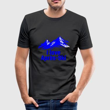 I LOVE APRES SKI blue - Men's Slim Fit T-Shirt