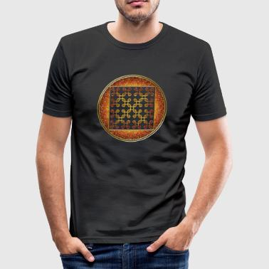Circle INFINITY LOOP - crop circle - symbol interconnectedness of all things - Men's Slim Fit T-Shirt